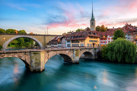 Arched bridges in Bern