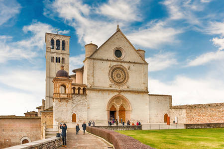 View of the Basilica of St. Francis in Assisi