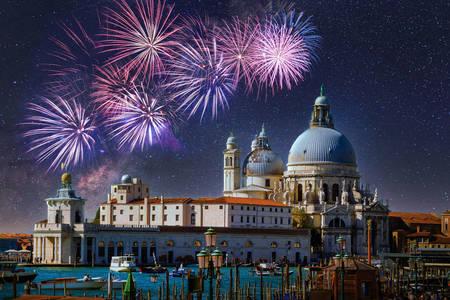 Feuerwerk über Santa Maria della Salute