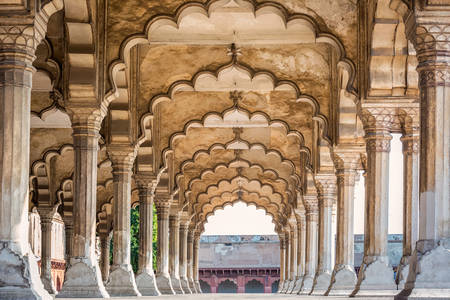 Arches in Fort Agra