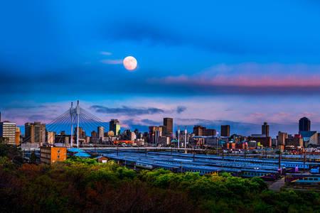 Johannesburgi éjszakai kilátás