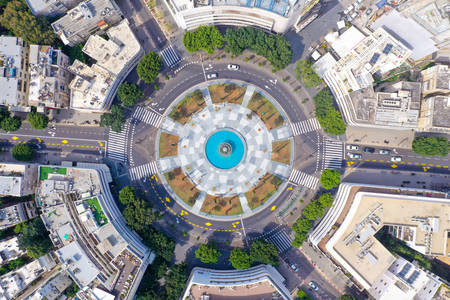 Top view of Dizengoff square