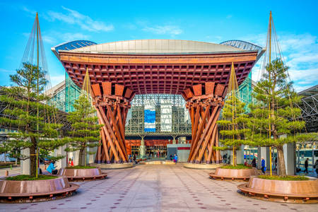 Tsuzumimon Gate in Kanazawa