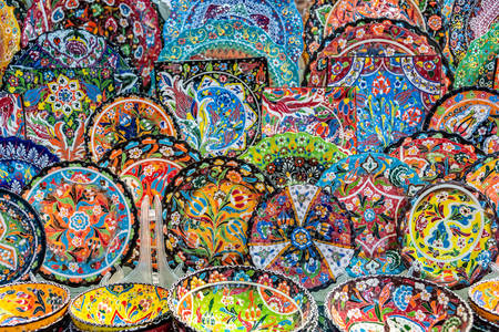 Placas de cerámica en el mercado de Dubai