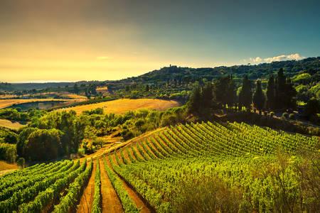 Hügel in Toskana