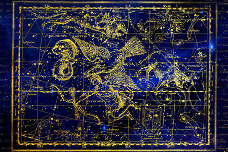 Constellations Dolphin and Eagle