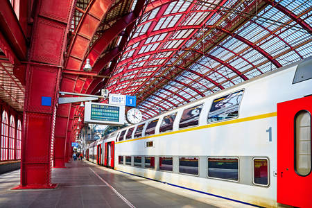 Double-decker train to Antwerp-Central
