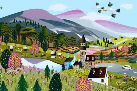 Πόλη στα βουνά