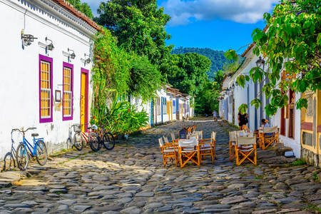 Street of the historic center in Paraty
