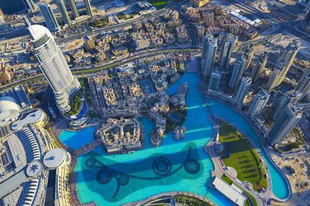 Вид на город Дубай