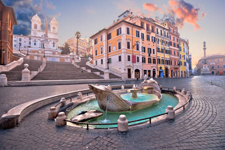 Spanish Steps and Barcaccia Fountain
