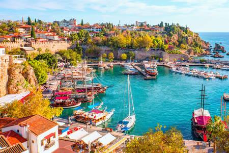 Kaleici harbor in old Antalya