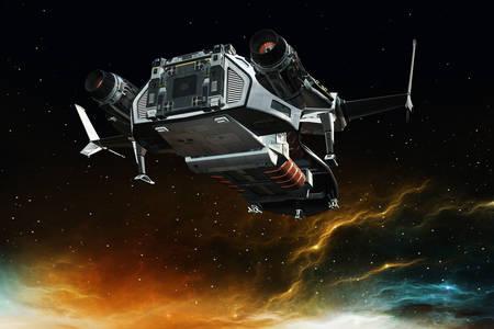 Spaceship in deep space