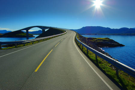 Atlantic road on a summer day