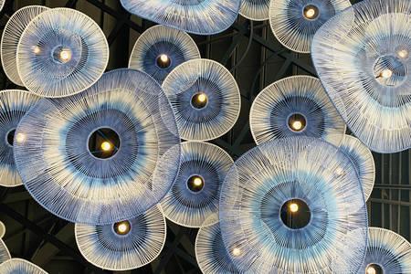 Handmade jellyfish lamps