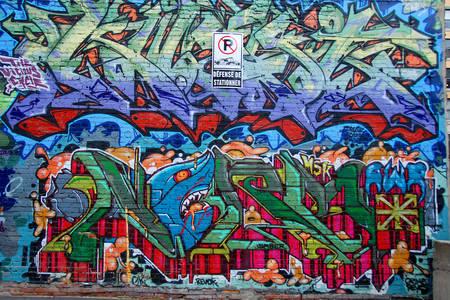 Straatgraffiti in Montreal