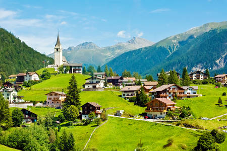 Village in the Swiss Alps