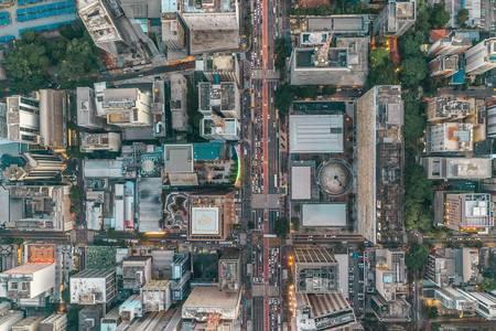 Fotografía aérea del casco urbano