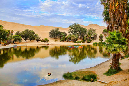 Huacachina - an oasis in Peru