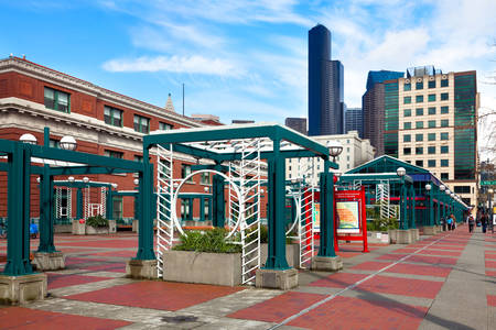 Seattle light rail station
