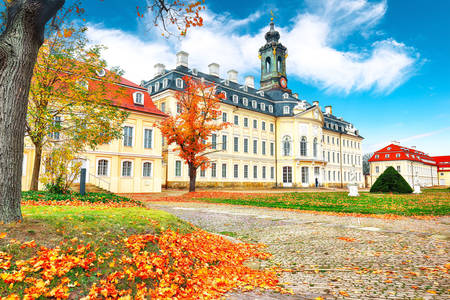 Vue du château d'Hubertusburg