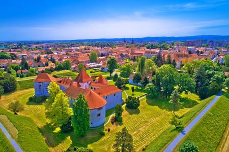 Luftaufnahme der Stadt Varazdin