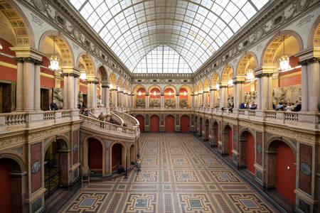 Interior of the Museum of Applied Arts of the Stieglitz Academy