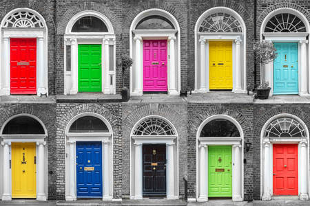 Дъблински цветни врати