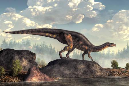 Plateosaurus on stone