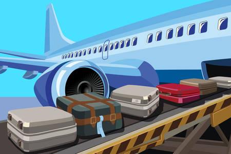 Páska s kufry v letadle