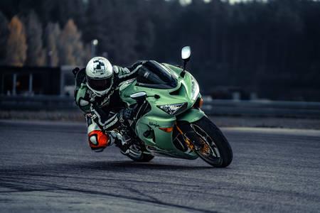 Motorcyclist on a sport bike