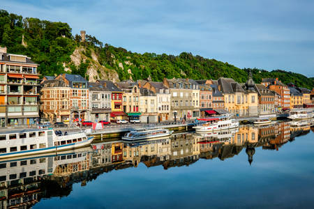 View of the picturesque town of Dinan