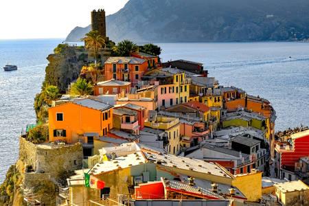 Die Architektur der Stadt Vernazza