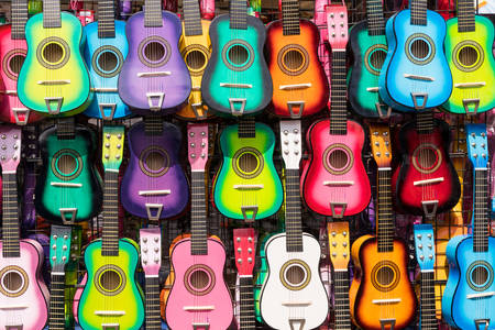 Multicolored guitars