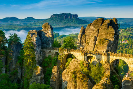 Sunrise over the Bastei Bridge