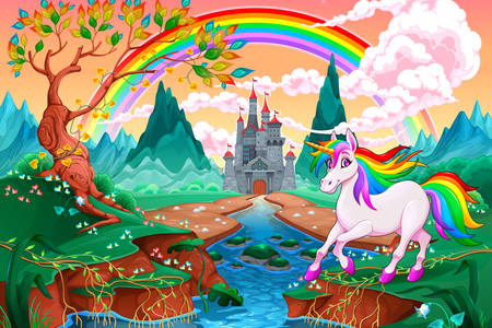 Unicorn and rainbow
