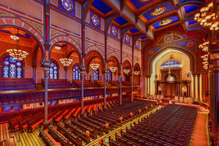 Interior of the Central Synagogue in Manhattan