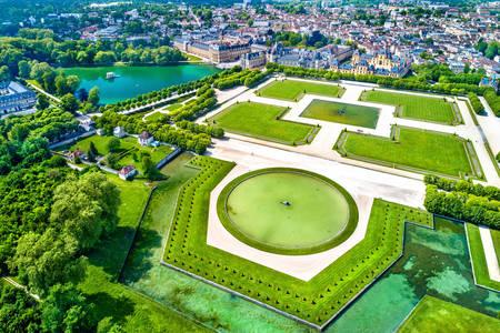 Widok z lotu ptaka Fontainebleau