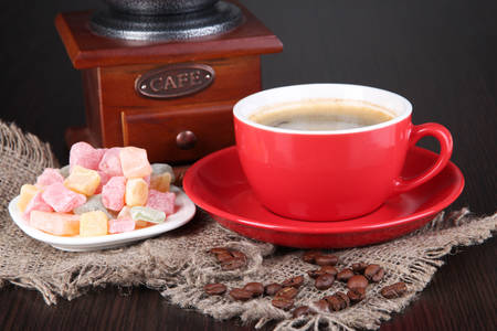 Cup of coffee and Turkish delight
