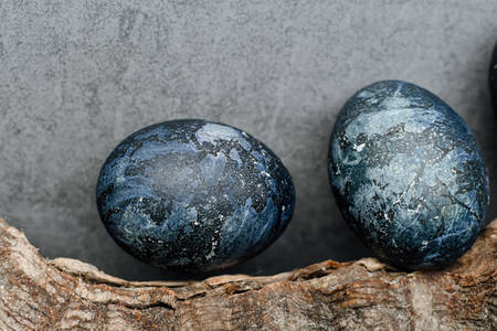 Dark blue easter eggs