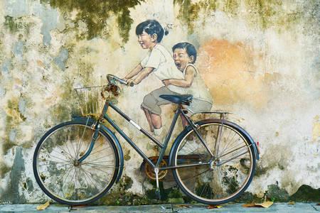 Fahrrad und Kinder