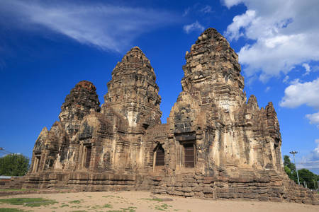 Prang Sam Yot Temple in Lopburi
