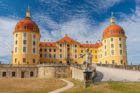Moritzburg castle view