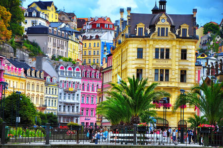 Houses in the center of Karlovy Vary