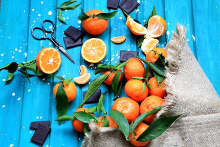 Tangerines and chocolate