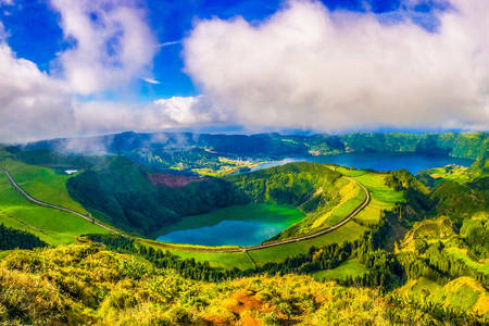 Lakes in the Azores