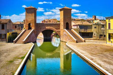Trepponti Bridge in Comacchio