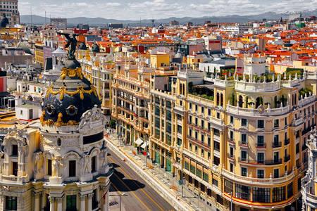 Arquitetura de rua de Madrid