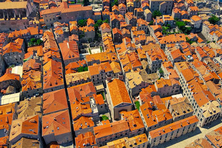 Top view of the rooftops of Dubrovnik