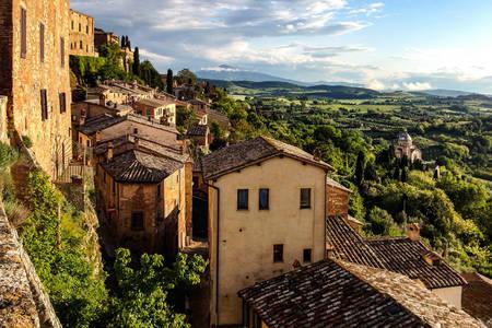 Stadtbild von Montepulciano